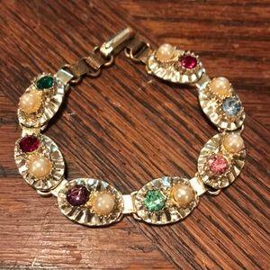 Colorful rhinestone bracelet